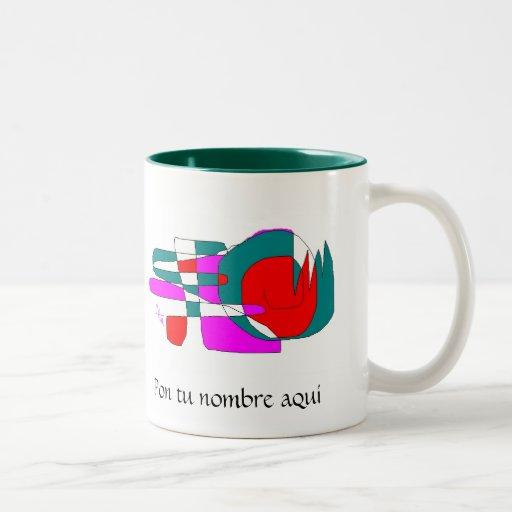red snail Two-Tone coffee mug