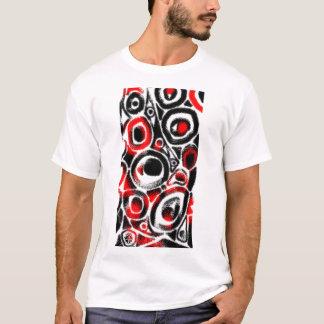 Red Snake Eyes Motif T-Shirt