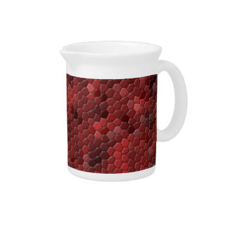 Red Snake Print Drink Pitcher
