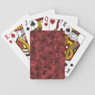 Red Snake Print Playing Cards