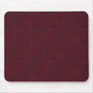 Red Snake Skin Leather Mouse Pad