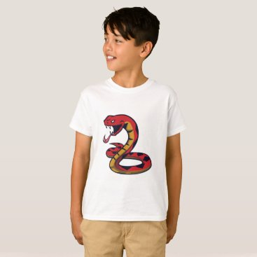 Halloween Themed Red Snake T-Shirt