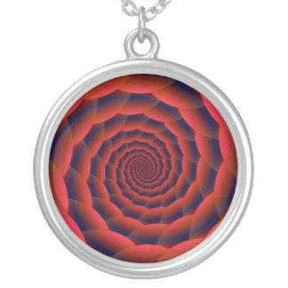 Red Snakeskin Spiral Necklace