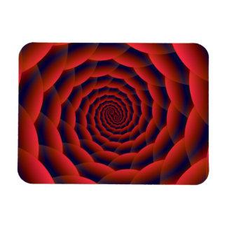 Red Snakeskin Spiral Rectangular Magnet