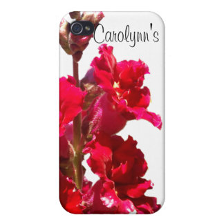 Red Snap Dragon iPhone 4 Cases