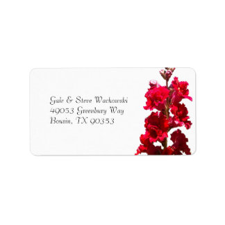 Red Snap Dragon Personalized Address Label