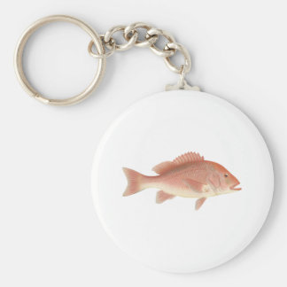 Red Snapper Art Keychain