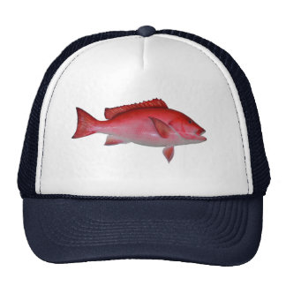 Red Snapper Fish Mesh Hat