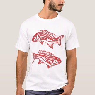 Red Snapper Fish T-Shirt