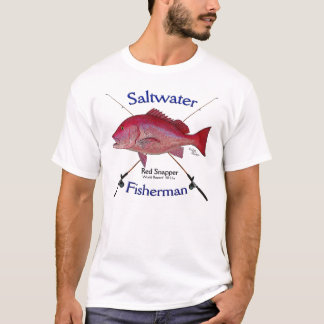 Red Snapper fishermans saltwater fishing Tshirt