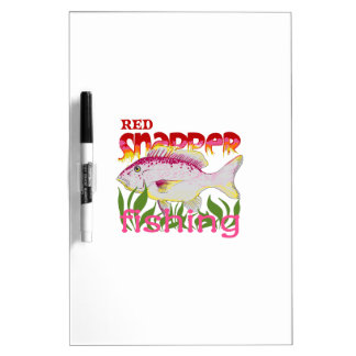 RED SNAPPER FISHING Dry-Erase WHITEBOARD