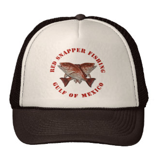 Red Snapper Fishing Gulf of Mexico Trucker Hat