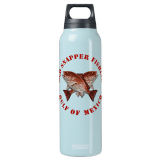 Red Snapper Fishing Gulf of Mexico Insulated Water Bottle