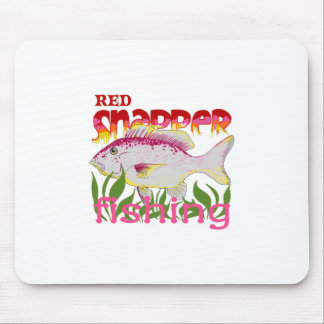 RED SNAPPER FISHING MOUSE PAD