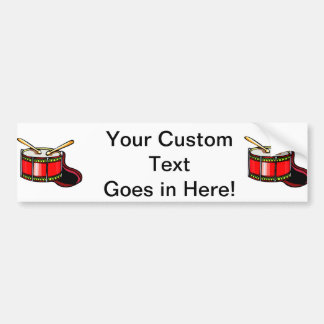 Red snare drum graphic car bumper sticker
