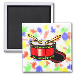 Red snare drum graphic fridge magnets