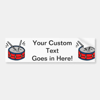 Red Snare Drum Two Sticks Graphic Music Designv Car Bumper Sticker