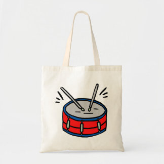 Red Snare Drum Two Sticks Graphic Music Designv Tote Bag