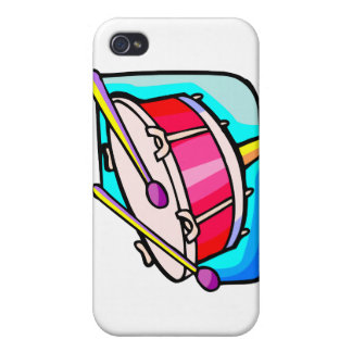 Red Snare Drum with Mallets Cover For iPhone 4