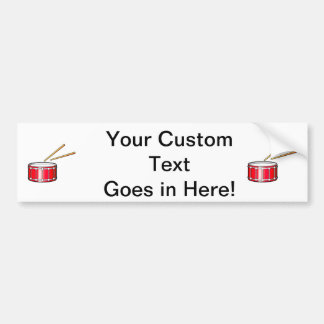 red snare graphic with sticks car bumper sticker