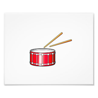 red snare graphic with sticks photographic print