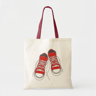 Red Sneakers Tote Bags