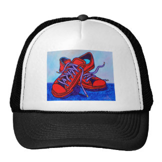 Red Sneakers Two Hats