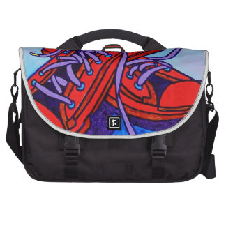 Red Sneakers Two Laptop Bag