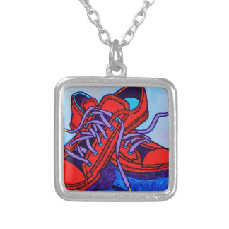 Red Sneakers Two Custom Necklace