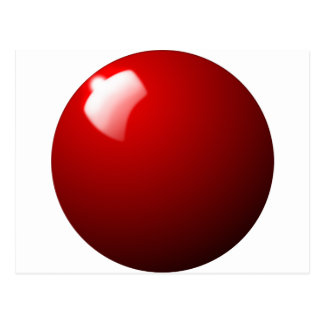 Red Snooker Ball Table Sport Postcard