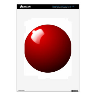 Red Snooker Ball Table Sport Skin For iPad 3