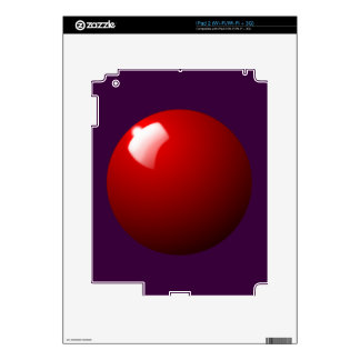 Red Snooker Ball Table Sport Skin For The iPad 2