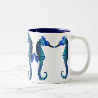 Red Snout Seahorses Mug