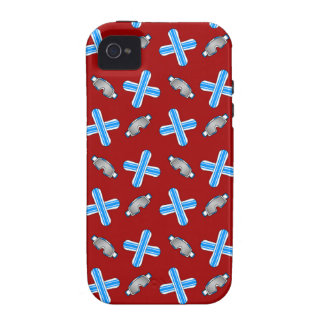 red snowboard pattern vibe iPhone 4 cases