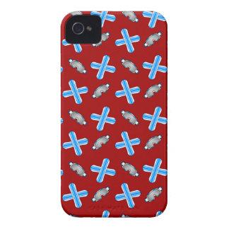 red snowboard pattern iPhone 4 Case-Mate case