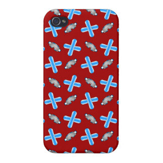 red snowboard pattern iPhone 4 covers