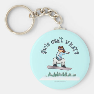 Red Snowboarder Key Chains