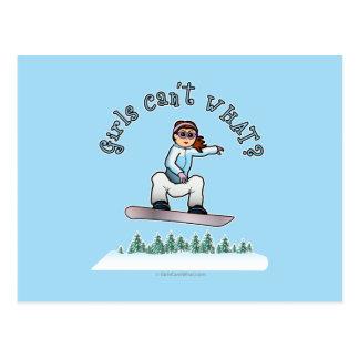 Red Snowboarder Postcard