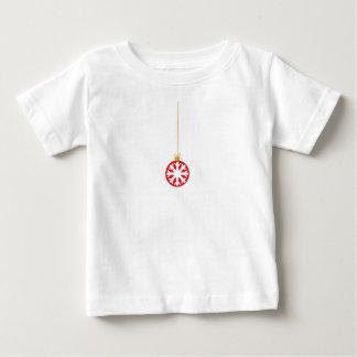 Red Snowflake Bauble Tee Shirt