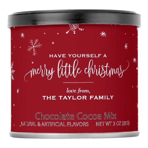 Red Snowflake Christmas Cocoa Mix