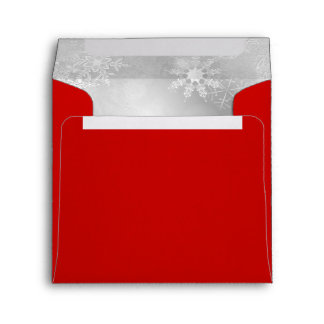 Red Snowflake Christmas Holiday Envelope