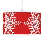 Red Snowflake Christmas Holiday Lamp