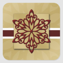 red snowflake envelope seal