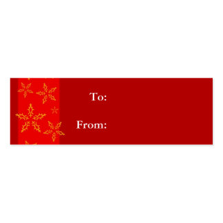 Red Snowflake Gift Tag Business Card