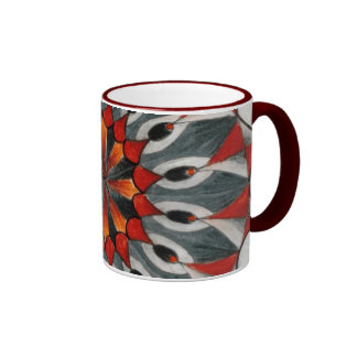 Red snowflake mug by Dana Tyrrell