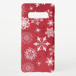 "Red snowflake pattern Christmas Samsung Galaxy S10  Case<br><div class=""desc"">Red snowflake pattern Christmas gift for kids men and women</div>"