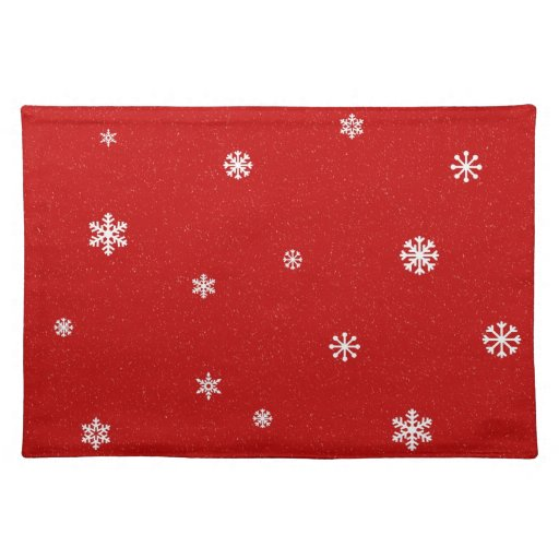 Red Snowflake Placemats