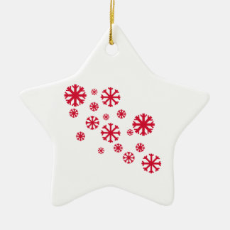 Red Snowflake Star Ornament