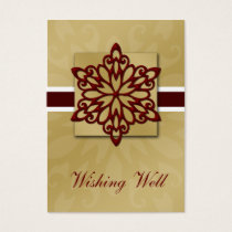 red snowflake wishing well cards