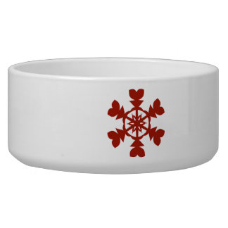 Red  Snowflakes Bowl